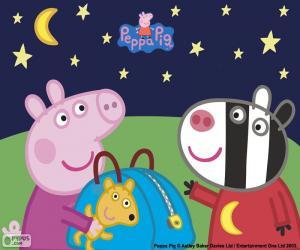 Peppa Pig und Zoe Zebra puzzle