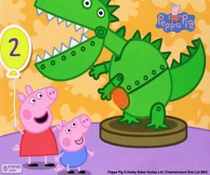 Peppa Wutz und der Dinosaurier puzzle