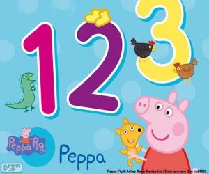 Peppa Wutz und Zahlen puzzle