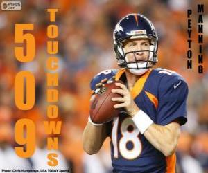 Peyton Manning 509 touchdowns puzzle