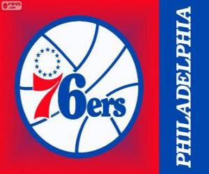 Philadelphia Logo 76ers, Sixers, NBA-Team. Atlantic Division, Eastern Conference puzzle