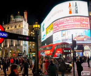 Piccadilly Circus, London puzzle