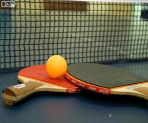 Ping-Pong-Schläger und ball puzzle