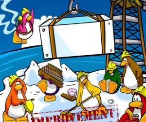 Pinguine bei der Arbeit im Club Penguin puzzle