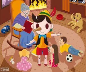 Pinocchio. Die hölzerne Marionette die ein Kind wird puzzle