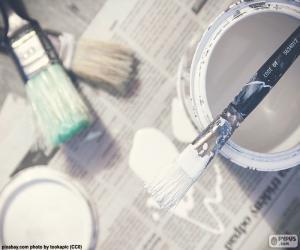 Pinsel und Malerei puzzle