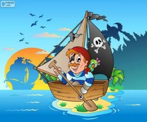 Piraten-Boot puzzle