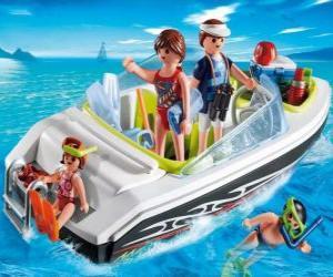 Playmobil Außenbordmotorboot puzzle