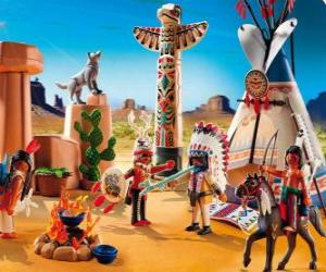 Playmobil indischen Lager puzzle