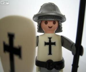 Playmobil mittelalterliche Soldat puzzle
