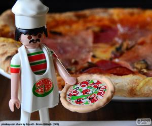 Playmobil-pizza puzzle