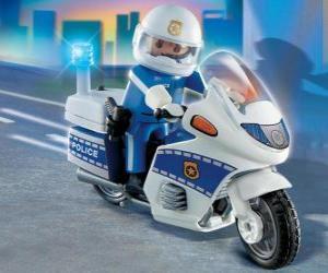 Playmobil Polizeimotorrad puzzle