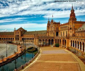 Plaza de España in Sevilla, Spanien puzzle
