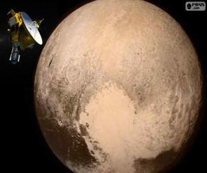 Pluto und New Horizons puzzle