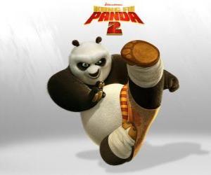 Po ist die Hauptfigur der Abenteuer des Films Kung Fu Panda 2 puzzle