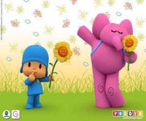 Pocoyo und Elly der Elefant puzzle