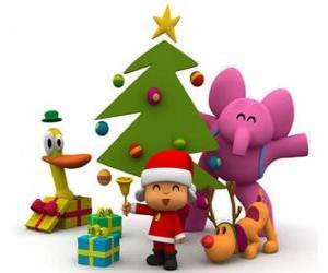 Pocoyo und seinen Freunden zu Weihnachten puzzle