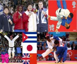 Podium der Frauen Judo über 78 kg puzzle