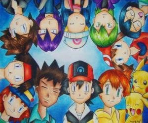Pokémon-Figuren puzzle