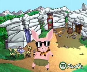 Pokopet Tork, ein Schwein mit Sonnenbrille, ein Haustier von Panfu puzzle