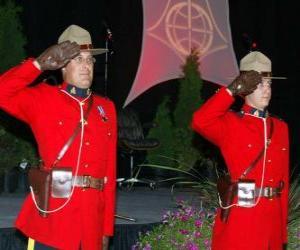 Polizeibeamte der königliche kanadische berittene polizei oder Royal Canadian Mounted Police puzzle
