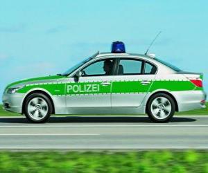 polizeiwagen - BMW E60 - puzzle
