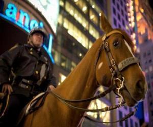 Polizisten auf Pferden puzzle