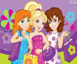 Polly Pocket Einkaufen mit ihren Freunden puzzle