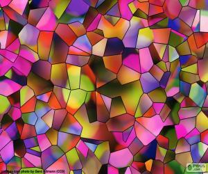 Polygone von Farben puzzle