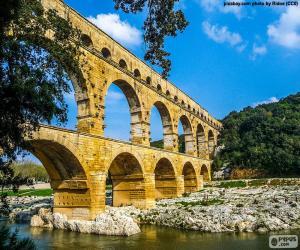 Pont du Gard, Frankreich puzzle