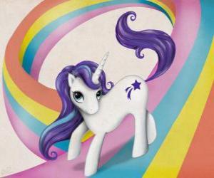 Pony über den Regenbogen puzzle