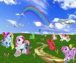 Ponys im Feld puzzle