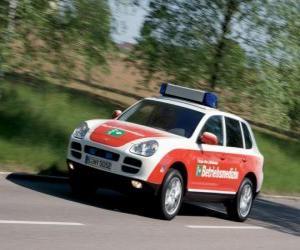 Porsche Cayenne Ambulanz puzzle