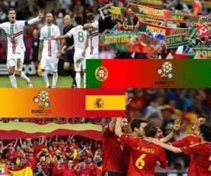 Portugal - Spanien, Halve Finale Euro 2012 puzzle