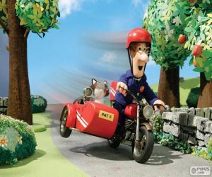 Postbote Pat mit seinem Motorrad puzzle