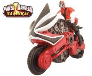Power Ranger Samurai Red-Zyklus puzzle