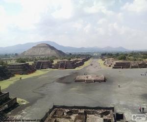 Prähispanische Stadt Teotihuacan puzzle