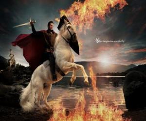 Prinz reiten ein pferd puzzle
