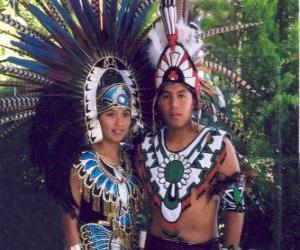 Prinz und Prinzessin Aztec puzzle
