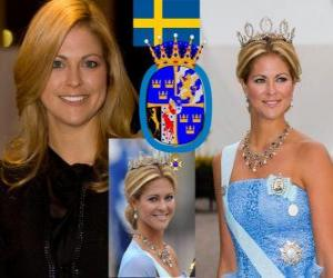 Prinzessin Madeleine von Schweden puzzle