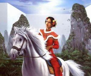 Prinzessin schönes Pferd puzzle