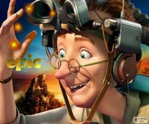Professor Bomba, einem exzentrischen Wissenschaftler puzzle