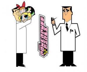 Professor Utonium ist der Schöpfer von Powerpuff Girls puzzle