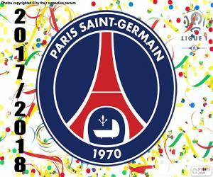 PSG, Meister Ligue 1 2017-2018 puzzle