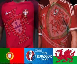 PT-Wales, Halbfinale Euro 2016 puzzle
