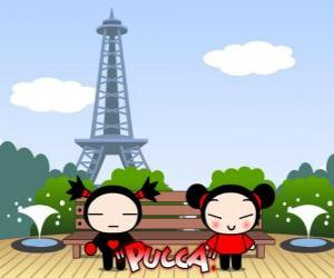 Pucca und Garu in Paris puzzle