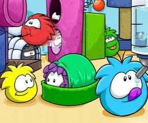 Puffles Haustiere in den Club Penguin puzzle