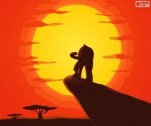 Pypus im Rock des Königs als Simba, der König der Löwen puzzle