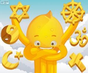 Pypus und die Religionen puzzle