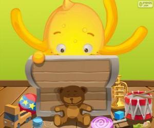 Pypus und seine Spielzeug-box puzzle
